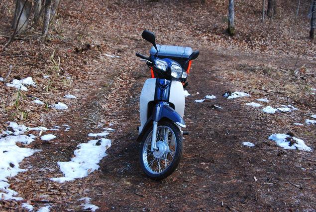 雪解け後のバイク