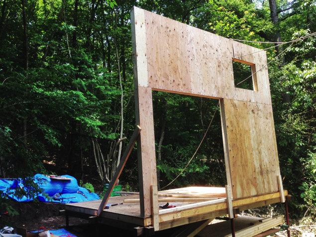[セルフビルド・DIY]6畳の自作小屋:壁