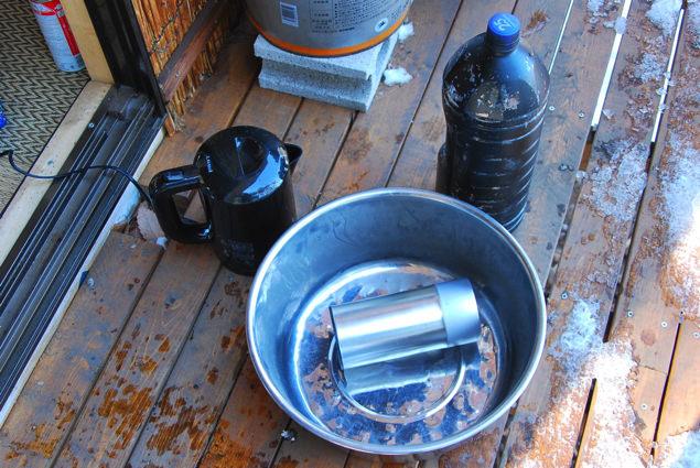 行水に使用する道具一式