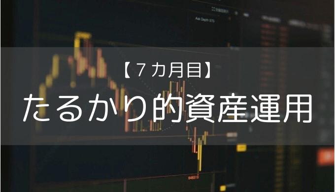 【7カ月目】株式投資の運用報告【コロナショック】